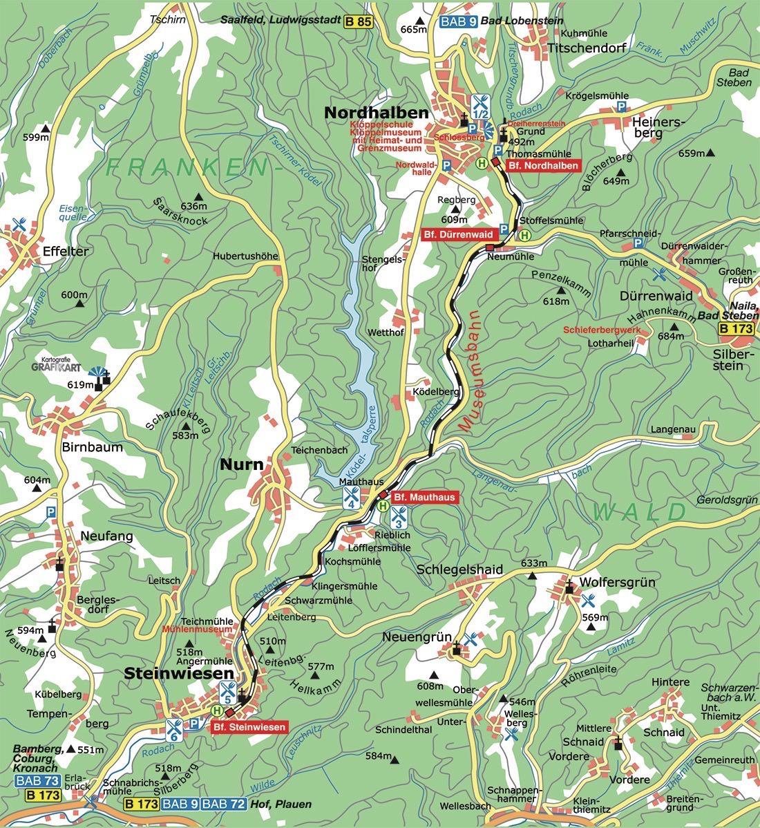Eisenbahnfreunde Rodachtalbahn E V Karte